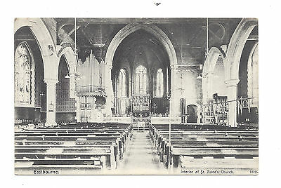 Vintage postcard  Interior of St Anne's Church, Eastbourne. Victoria Series 1905
