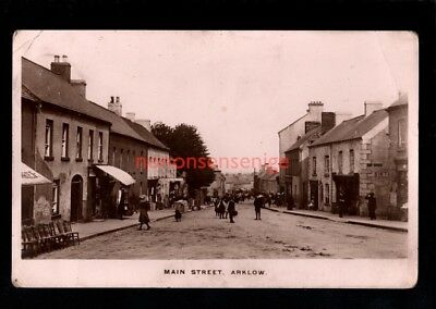 IRELAND Co Wicklow ARKLOW MAIN STREET Annesley REAL PHOTO POSTCARD 1914 - 51