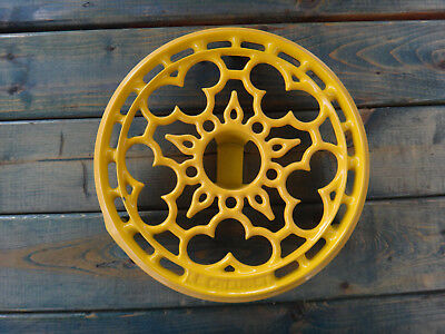 Le Creuset Yellow Cast Iron Round Tripod Candle Warmer Trivet