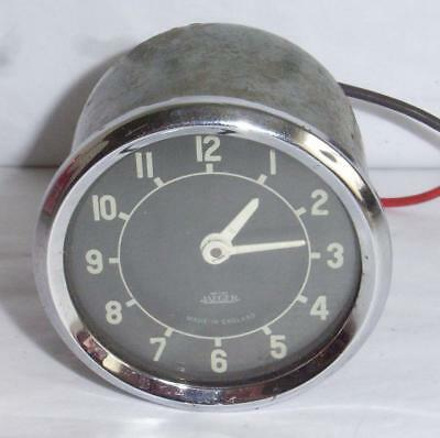 Vintage Jaeger Car Clock Black Face Suit Classic Car 12 Volt Sk. 76452.c.127