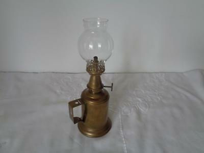 Retro Pigeon Lamp Vintage Brass Paraffin Glass Shade French Vintner