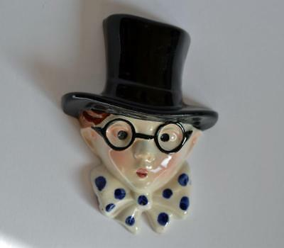 RARE CUTE ORIGINAL 1930s SMALL ART DECO FACE WALL MASK by COPE & CO.