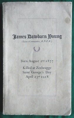 Memorial To James Dawbarn Young Rnvr Killed Zeebrugge 1918
