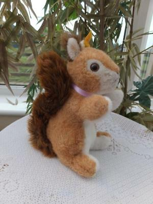 "Vintage Steiff 8.5"" Ricky Red Squirrel Toy Ear Button 071324 Beatrix Potter Bear"