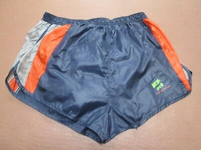Vintage  shiny nylon sprinter shorts by Run-tec, size XL