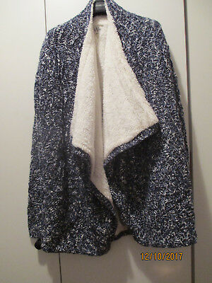 Tres Belle Veste Maille Bleue Fourree Ikks We Are Young Taille L/44
