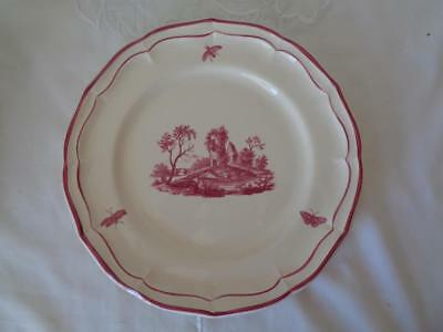 Gien Paysages Roses Dinner Plate French NEW