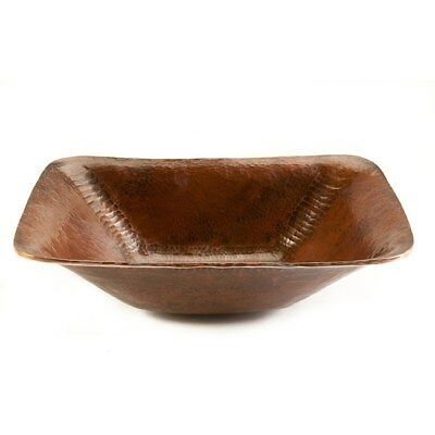 Premier Copper Products Rectangle Hand-forged Old World Copper Vessel Sink