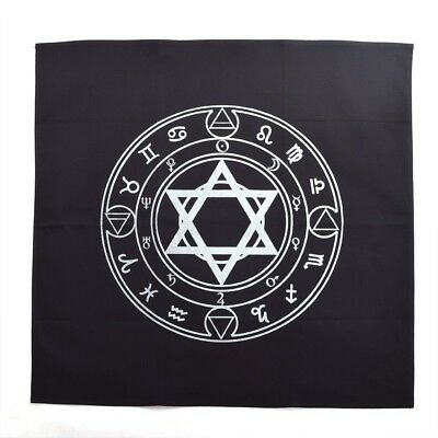 27.5x27.5inch Altar Tarot Tablecloth Retro Hexagram Pattern Rugs Wicca Home Deco