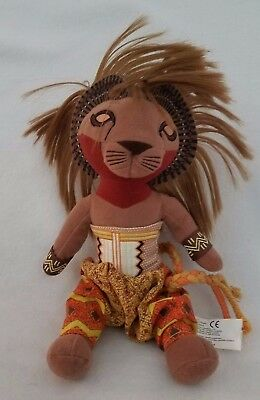 "Disney's The Lion King Broadway Musical SIMBA Plush Toy 10"" Doll"