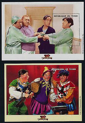 Chad 861-4 MNH Three Stooges, Moe, Curly, Larry, Music