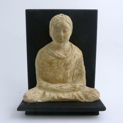 Ancient Gandhara Seated Buddha From A Frieze Fragment