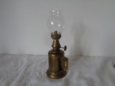Retro Pigeon Lamp Vintage Brass Paraffin Glass Shade French Vintner Olympe