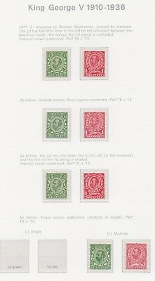 Lot:23540  GB GV   1911-12 mounted mint 1/2d and 1d scarlets