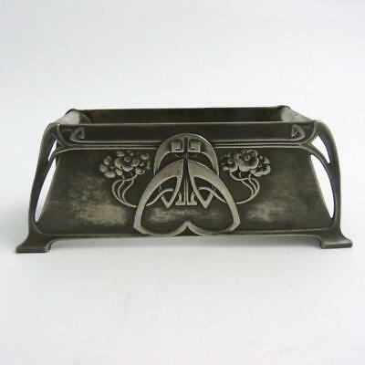Antique Pewter Art Nouveau Flower Trouch, Circa 1900