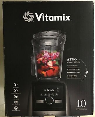 NEW VITAMIX A3500 Ascent Series BLENDER Brushed STAINLESS METAL Finish VM0185