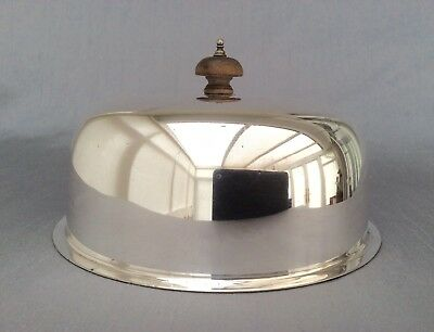 Antique Sheffield Walker & Hall Silver Plated Food Dome Cloche C.1900