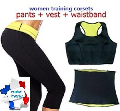 ENSEMBLE SUDATION SHAPERS -lot PANTALON++BRASSIERE++CEINTURE-slim neopren corset