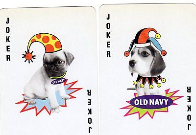 "Pair RARE MINT ""Old Navy Dogs"" JOKER Playing Cards #286"