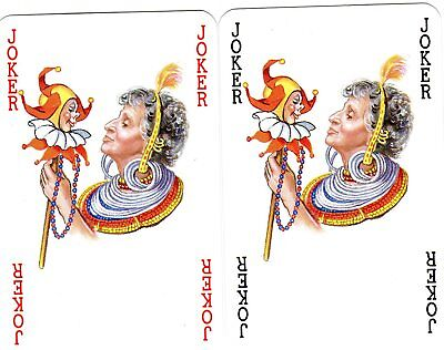 "Pair RARE MINT ""African Tribeswomen"" JOKER Playing Cards #289"