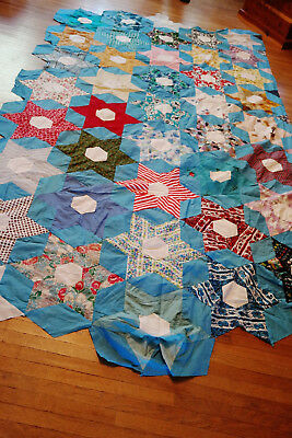 6 Point Star Quilt Top  Unfinished