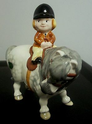 "Scarce Beswick Thelwell Roan Pony Horse  ""learner Rider"" Original Sticker Sharp"