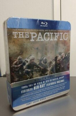The Pacific (Blu-ray Disc, 2010, 6-Disc set, Tin case) Factory Sealed