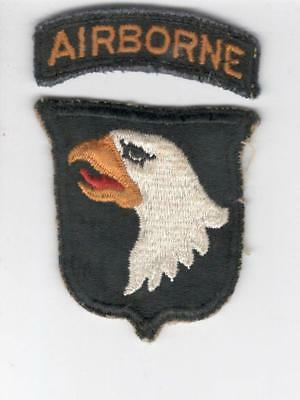 X777 WW 2 US Army 101st Airborne Division Patch & Tab