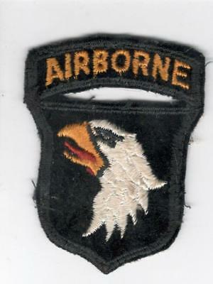 X778 50's US Army 101st Airborne Division Velvet Patch & Attached Tab