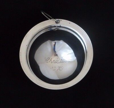 Neiman Marcus 1973 Sterling Silver Saturn Ball Christmas Ornament Decoration