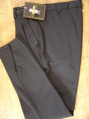 "Caldene Mens Black breeches, front pleats, 34"" waist, new with tags"