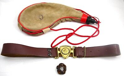 Vintage Canadian Boy Scout Lot Belt And More Collectible.   #3