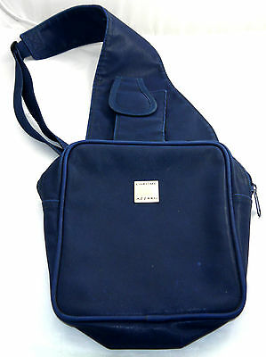 Vintage Azzaro Chrome Perfume Blue Crossbody Messenger Bag Sz 8 X 7 X 3  ""