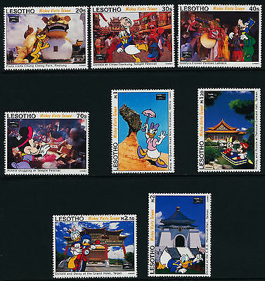Lesotho 979-86 MNH Disney Characters in Taipei, Festivals