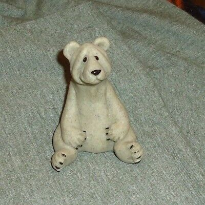 "Second Nature Quarry Critters  "" BOO "" - BEAR Figurine RETIRED"