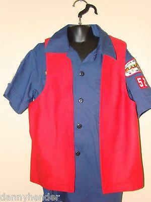RED Cub scout Heavy Duty BRAG VEST Double Sided YL
