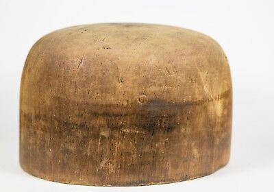 Vintage Wood Block Hat form mold Millinery size 6 1/4 for stand