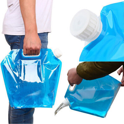 10L Folding Drinking Water Bucket Camping Hiking Water Container Storage Bag B