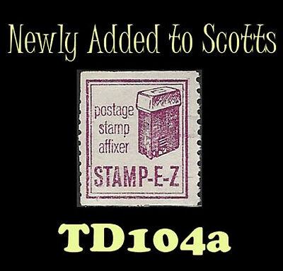 US TD-104A Stamp E-Z perfed test stamp new Discovery 1960 CV unpriced in Scotts