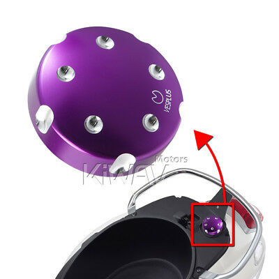 KiWAV CNC Aluminum Gasoline Fuel Cap Purple for APRILIA Scarabeo i.e. Light 250