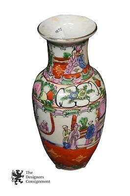 Antique Chinese Hongxian Mark Famille Rose Porcelain Vase Early Republic Floral