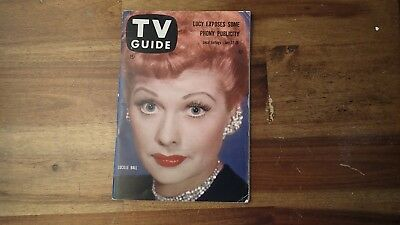 1958 TV Guide Lucy Lucille Ball Peter Lawford