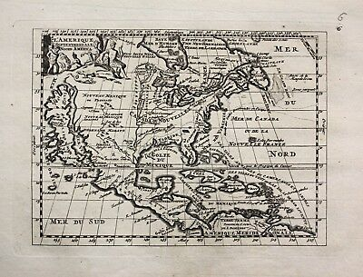 1735 - North America California island La Feuille engraving Ratelband map