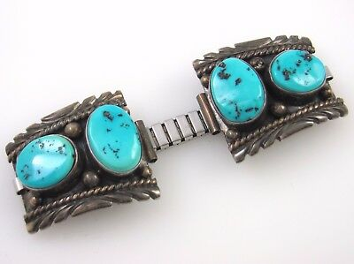 MICHAEL SPENCER Vintage Navajo Handmade Sterling Silver Turquoise Watch Bands J
