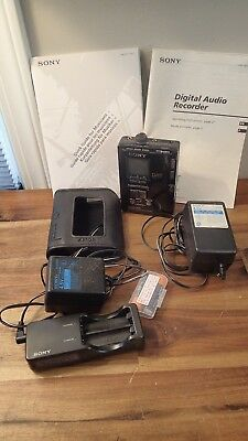 Sony PCM-M1 Digital Audio Tape DAT Walkman Recorder Player Charger Power Supply
