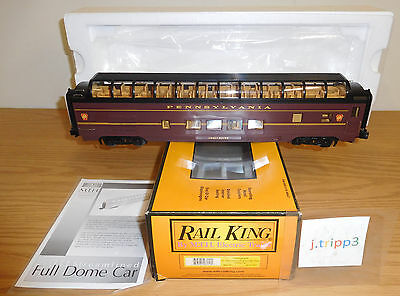 Mth 30-67157 Pennsylvania Prr 60' Passenger Full Vista Dome Train Car O Gauge Rk
