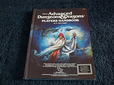 AD&D Dungeons & Dragons Players Handbook TSR 1st Edition 2nd Ed Art Nice    W4