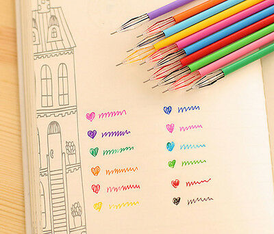 SM Office Supplies 12 Assorted Color cartoon fresh Star Diamond color gel pen