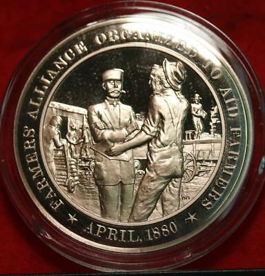 Uncirculated Franklin Mint .999 Bronze 1oz Round Farmers Alliance Free S/H