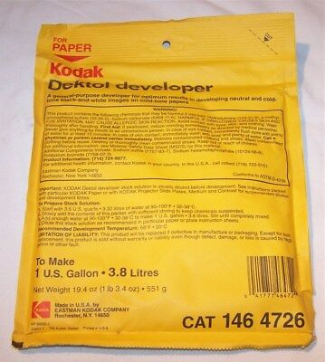 Kodak Dektol Developer  1 Gallon 19.4 oz  CAT 146 4726